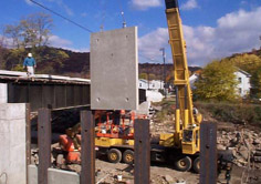 Construction of the Hyndman Borough Flood Wall